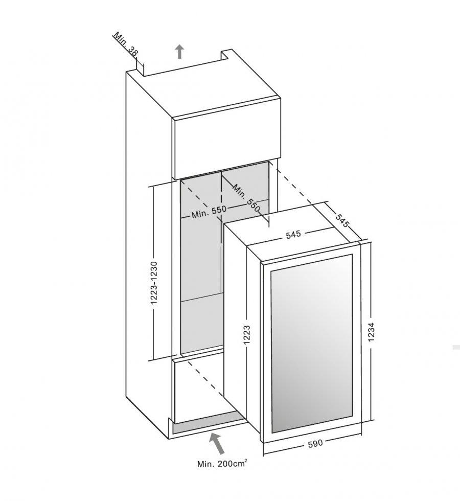 Винный шкаф Dunavox DX-89.215BDBK - 8