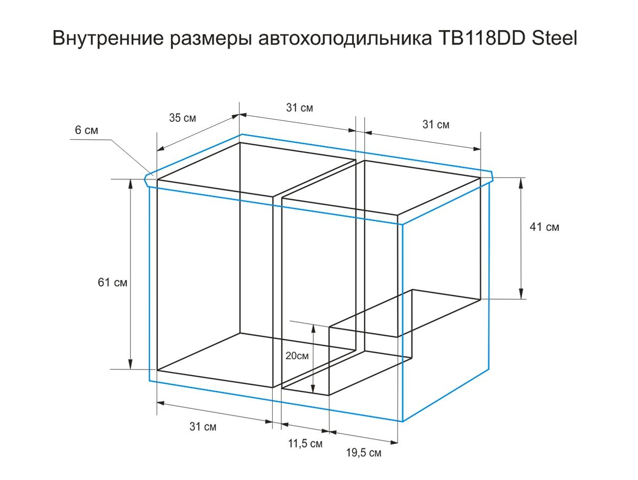 Автохолодильник компрессорный Indel B TB 118 - 5