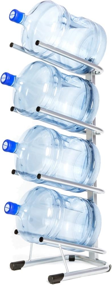 Стойка для 4 бутылей по 19 литров СРП серебро - 1