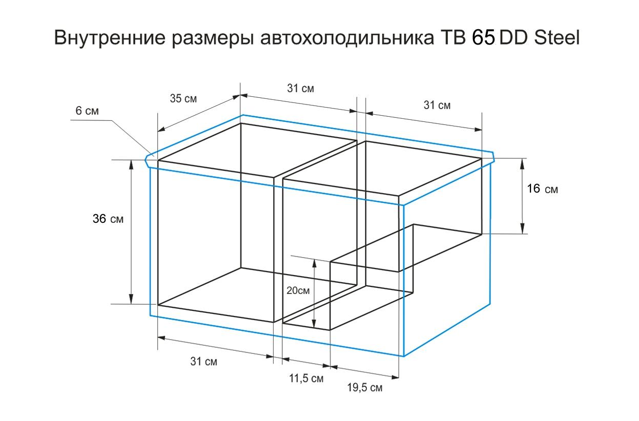 Автохолодильник компрессорный Indel B TB65 - 5