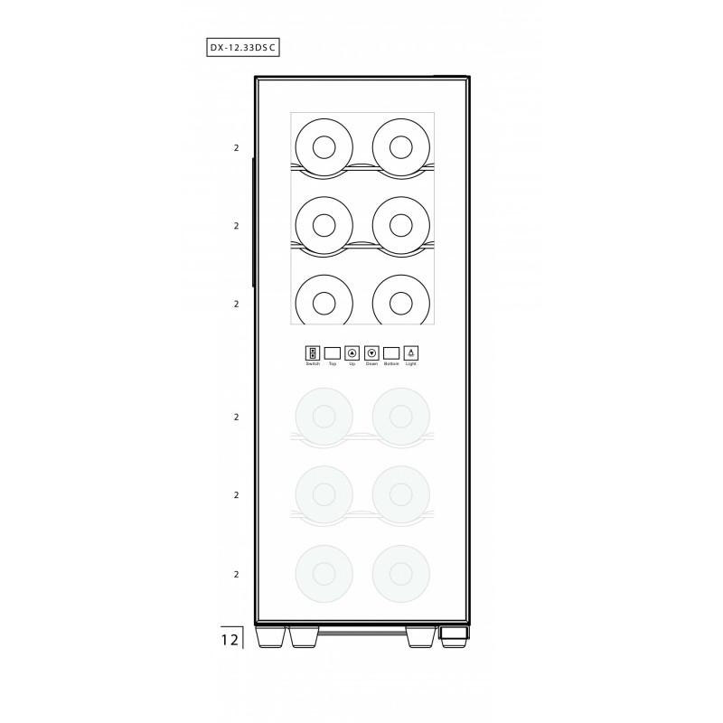Винный шкаф Dunavox DAT-12.33DC - 5