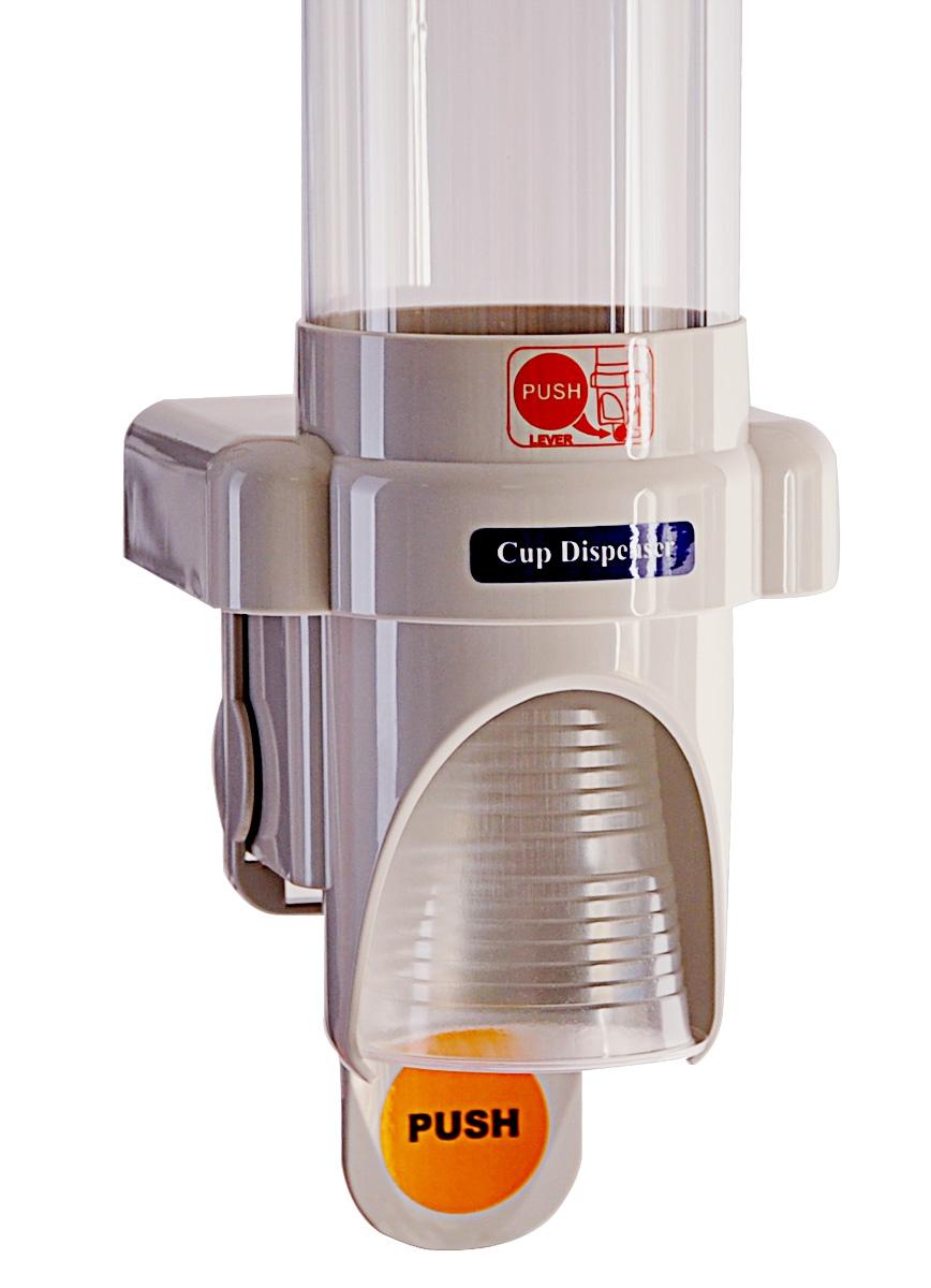 Стаканодержатель CRB-B (886) полуавтомат, на саморезах, 50 стаканов, серый (артикул 3560) - 2