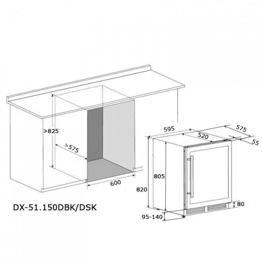 Винный шкаф Dunavox DX-51.150DBKDP - 3