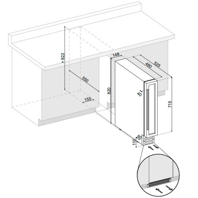 Винный шкаф Dunavox DX-7.20BK/DP - 4