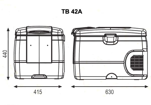 Автохолодильник компрессорный Indel B TB42A - 8
