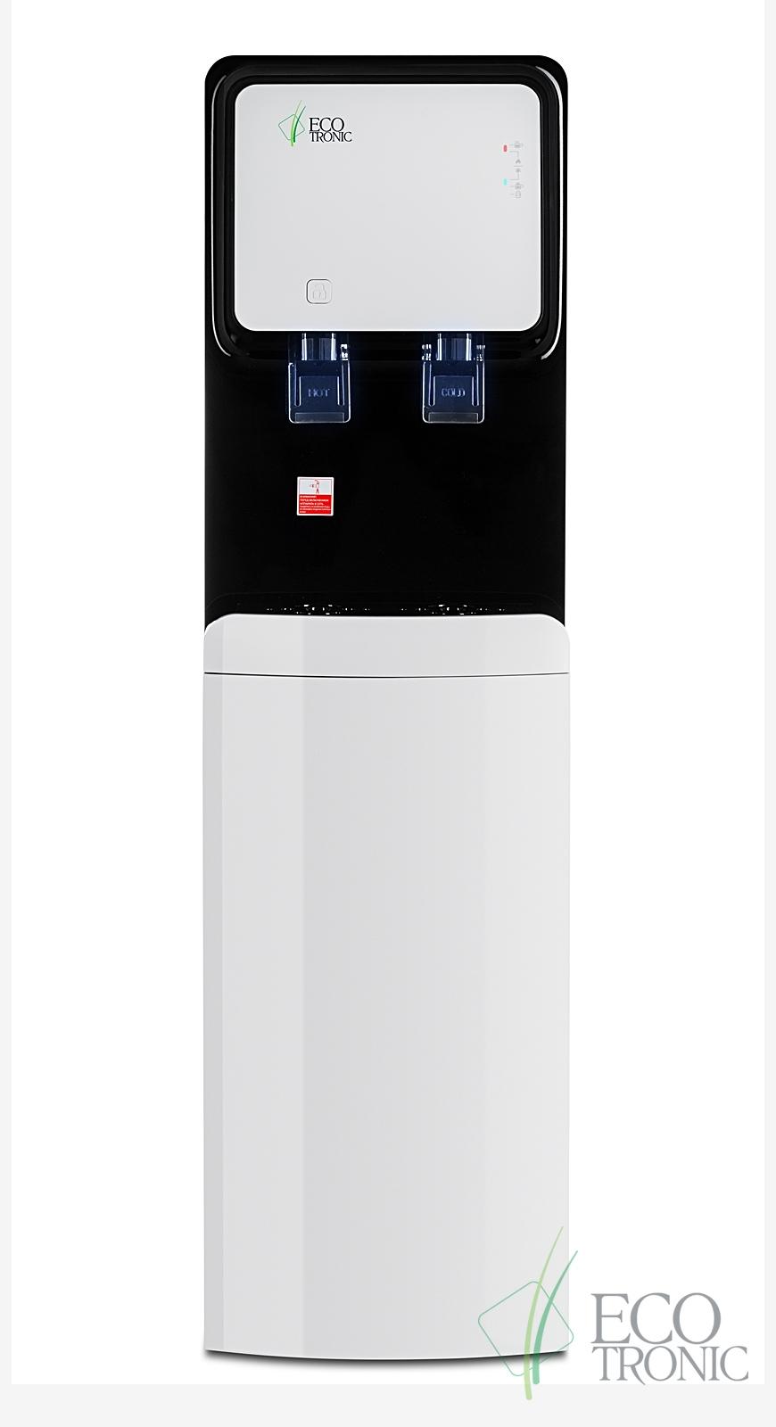 Кулер с нижней загрузкой бутыли Ecotronic M50-LXE white+black - 1