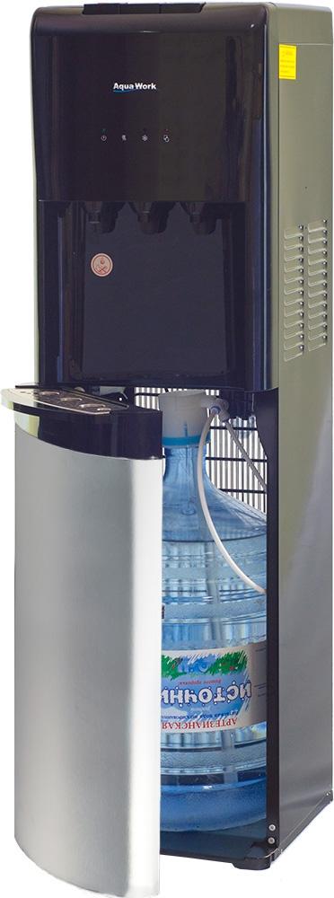 Кулер для воды Aqua Work 1245-S серебристо/черный - 1