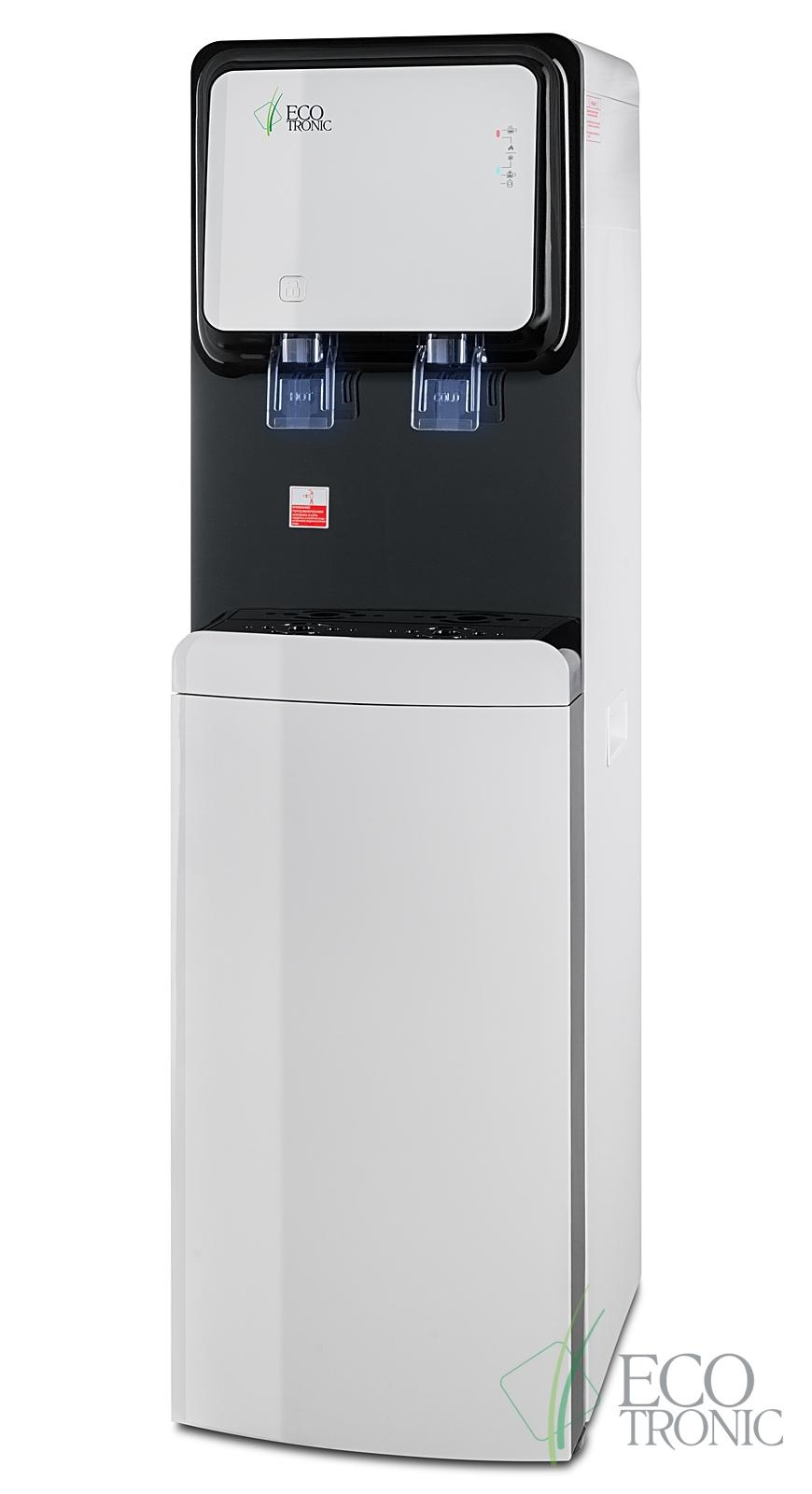 Кулер с нижней загрузкой бутыли Ecotronic M50-LXE white+black - 4