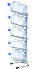 Стойка для 5 бутылей по 19 литров СРП серебро - 1