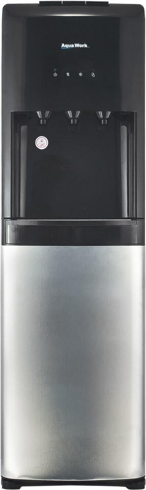 Кулер для воды Aqua Work 1245-S серебристо/черный - 3