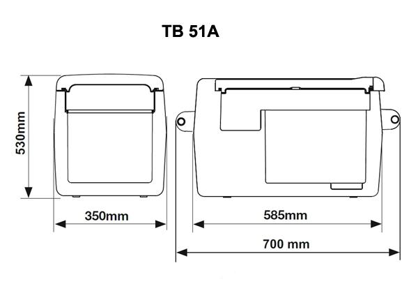 Автохолодильник компрессорный Indel B TB51A - 10