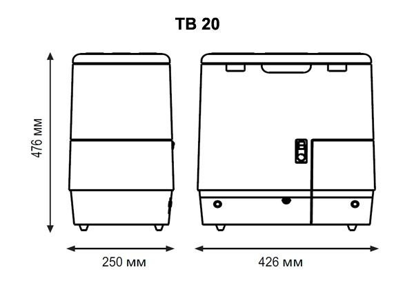 Автохолодильник компрессорный Indel B TB20 - 6