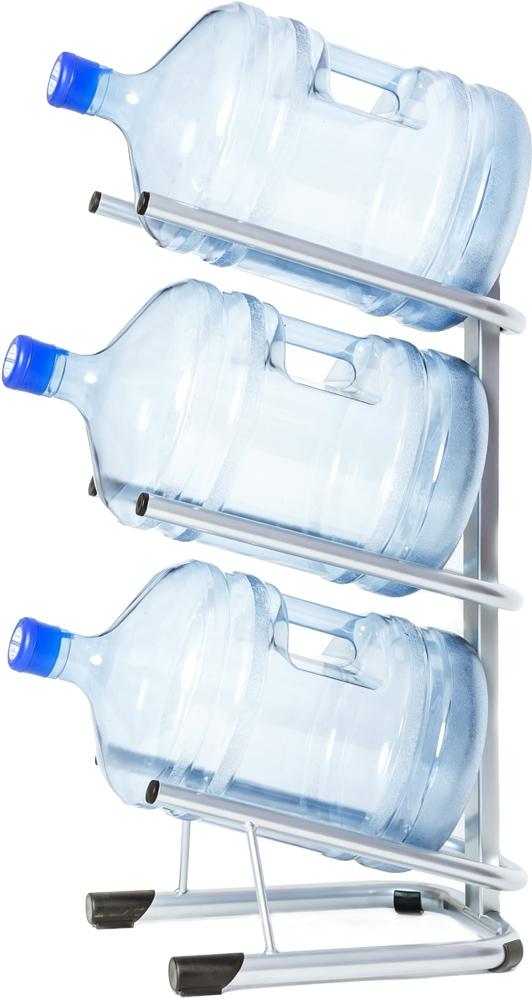 Стойка для 3 бутылей по 19 литров СРП серебро