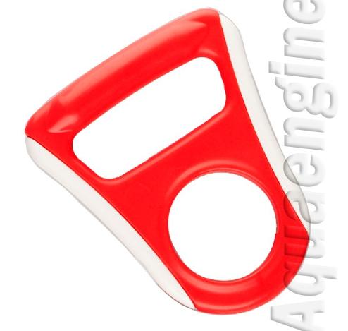 Ручка для бутылей обрезиненная красная плоская
