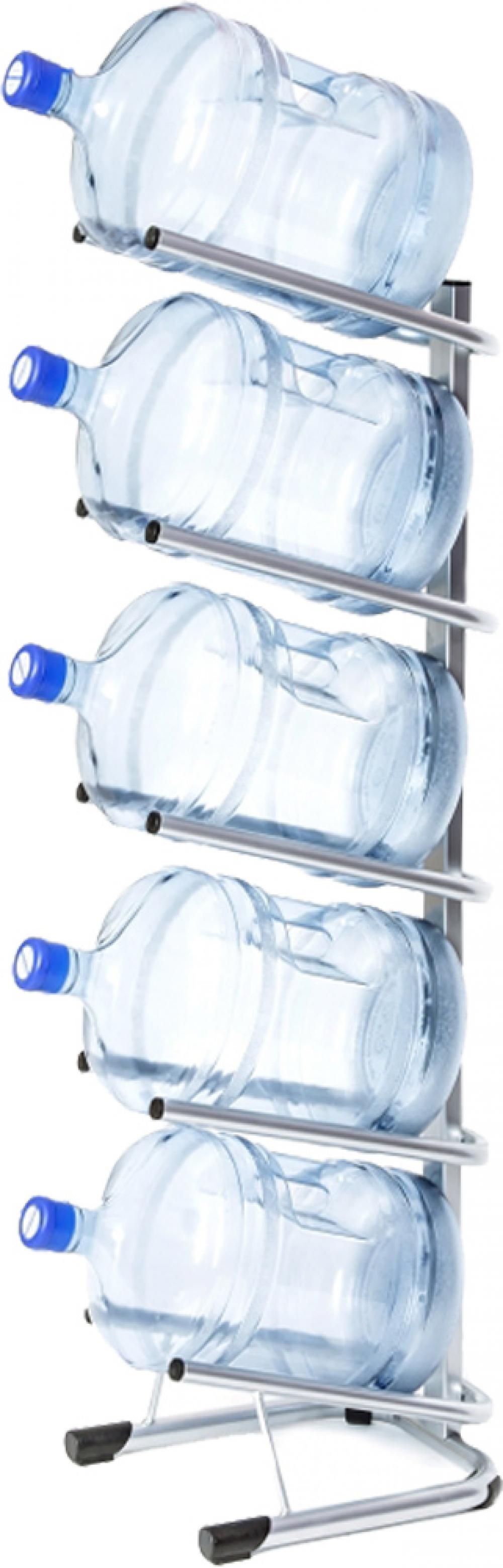 Стойка для 5 бутылей по 19 литров СРП серебро