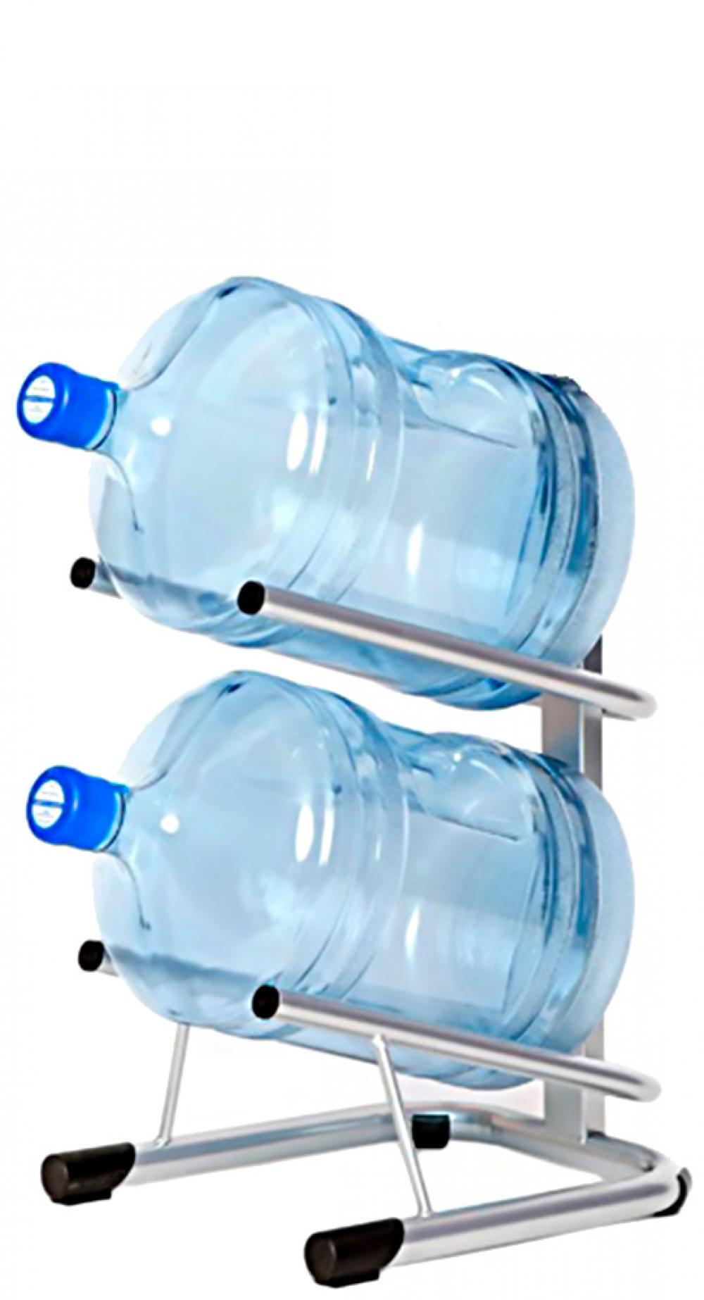 Стойка для 2 бутылей по 19 литров СРП серебро