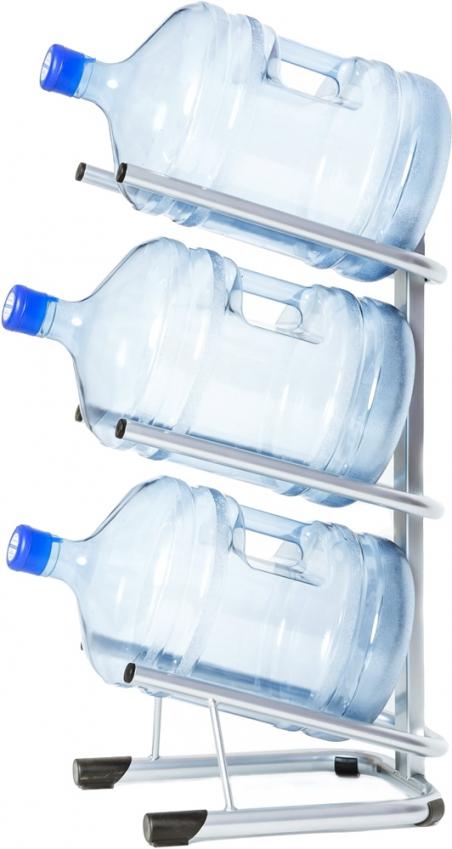 Стойка для 3 бутылей по 19 литров СРП серебро - 1184