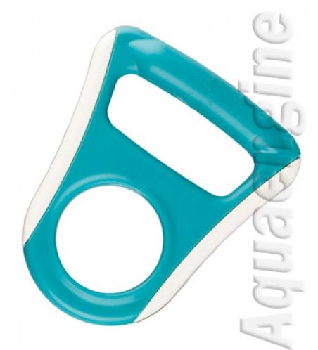 Ручка для бутылей обрезиненная голубая плоская - 466