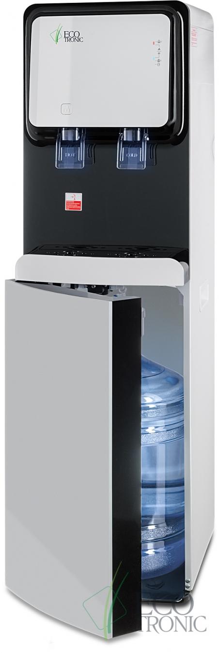 Кулер с нижней загрузкой бутыли Ecotronic M50-LXE white+black - 1136